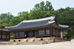 Guest receiving hall Yanghwadang at Changgyeonggung Palace, Seoul, Korea stock photos