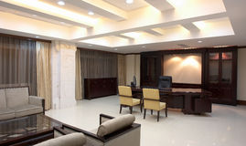 Guest Reception. Photo of a guest reception room at a luxury apartment complex in China Royalty Free Stock Photos