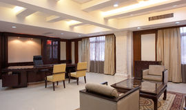 Guest Reception. Photo of a guest reception room at a luxury apartment complex in China Stock Photos