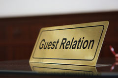 Guest relation Royalty Free Stock Photos