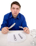 Guest of restaurant on diet Stock Photo