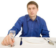 Guest of restaurant with glasses Royalty Free Stock Photos