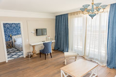 Guest room in the apartment of the Kranevo hotel complex in Bulgaria Royalty Free Stock Image
