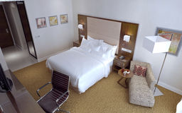 Guest Room Contemporary style Royalty Free Stock Photos
