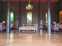 Guest room at Jim Thompson`s museum residence royalty free stock image