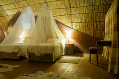 Guest room in a Lodge in Botswana Stock Images