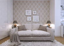 Guest room modern style Royalty Free Stock Photo