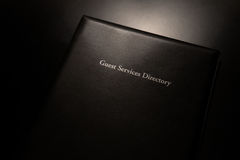 Guest Services Directory Stock Photo