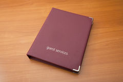 Guest Services Folder Royalty Free Stock Photo