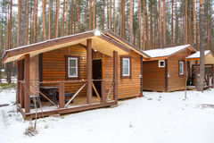 Guest wooden house in country recreation center Stock Photo