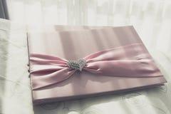 Guestbook di nozze Fotografie Stock Libere da Diritti