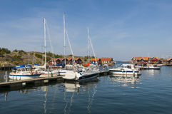Guestharbour Hunnebostrand Swedish westcoast Royalty Free Stock Image