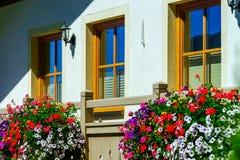 Guesthouse στην ήρεμες θέση, τα βουνά και τη φύση, Αυστρία Στοκ Εικόνες