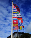 Guesthouse banner in Iceland. Royalty Free Stock Photography