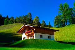 Guesthouse in calm place, mountains and nature, Austria Stock Photography