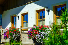 Guesthouse in calm place, mountains and nature, Austria Stock Images