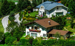 Guesthouse in calm place, mountains and nature, Austria Stock Photos