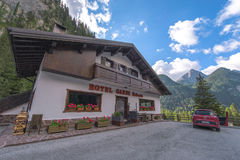 Guesthouse in the Dolomites Stock Image