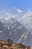 Guesthouse at Himalaya Machapuchare basecamp trekking trail, Nepal Stock Photo