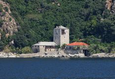 Guesthouses in mount Athos Stock Image