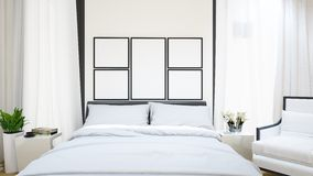 Guestroom för hotellet - illustration 3D Royaltyfria Bilder