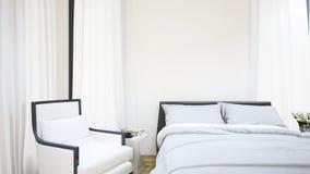 Guestroom för hotellet - illustration 3D Arkivfoto