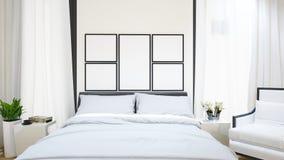 Guestroom para o hotel - ilustração 3D Imagens de Stock Royalty Free