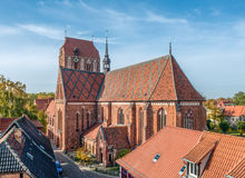 Guestrow Cathedral. In the eastern part of Germany Stock Photography