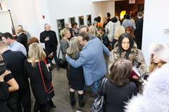Guests attend the Helen Yarmak presentation during MBFW Fall 2015 Royalty Free Stock Image