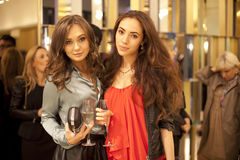 Guests of a fashion show at Eva Collection Stock Photos