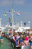 Guests on the ferry to Borkum, Germany Stock Image