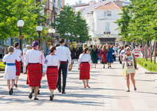Guests of the Festival of Orthodox Music in Pomorie, Bulgaria Royalty Free Stock Image