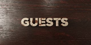 Guests - grungy wooden headline on Maple  - 3D rendered royalty free stock image Royalty Free Stock Photos