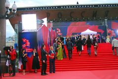 Guests of Moscow Film Festival Royalty Free Stock Photos