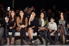 Guests at the New York Life fashion show during MBFW Fall 2015 Royalty Free Stock Photography