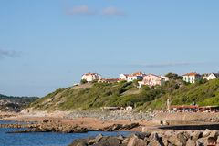 Free Guethary/France - 25.07.18 : Harbor View Sea Village Guethary Basque Country France Stock Images - 122602464