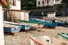 Free Guethary/France - 25.07.18 : Harbor View Sea Village Guethary Basque Country France Stock Photography - 122602682