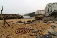 Guethary Franskt baskiskt land royaltyfri fotografi