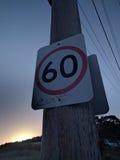 Gueto que olha o sinal de rua Imagens de Stock Royalty Free