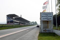 GUEUX, FRANCE - May 15, 2018: Historic Reims-Gueux circuit near Reims. Stock Photos