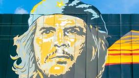Guevara del che dei murales del villaggio di Cienfuegos Fotografie Stock