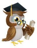 Gufo con il grado o la qualificazione Immagini Stock Libere da Diritti