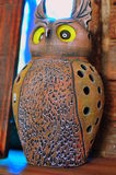 Gufo dell'argilla Fotografia Stock Libera da Diritti