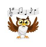 Gufo musicale Royalty Illustrazione gratis