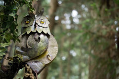 Gufo nella foresta Fotografia Stock Libera da Diritti