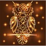 Gufo porpora mistico di fantasia royalty illustrazione gratis