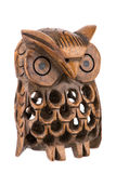 Gufo woodcarved decorativo dentro un gufo Immagine Stock Libera da Diritti