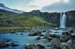 Gufufoss Waterfall, Iceland. The Gufufoss near Seydisfjordur in eastern Iceland Stock Photography
