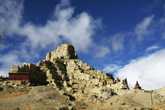 guge阿里废墟在China& x27; s新疆地区 图库摄影