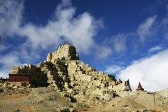 guge阿里废墟在China& x27; s新疆地区 库存照片